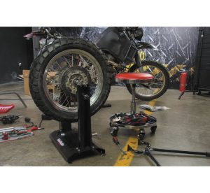 The ultimate shop stool that works as hard as you do. 17 in. diameter, five-section tool tray with thick one-piece magnetic rubber liner separates and protects the parts. Five 3 in. heavy-duty casters mounted on individual reinforcement arms with 360° swivel action. Beautiful chrome finish with super comfortable cushion for those extra-long jobs. 13 in. diameter seat can spin 360° and with the ease of a lever, gives an adjustable height of 17-1/2 to 22 in.