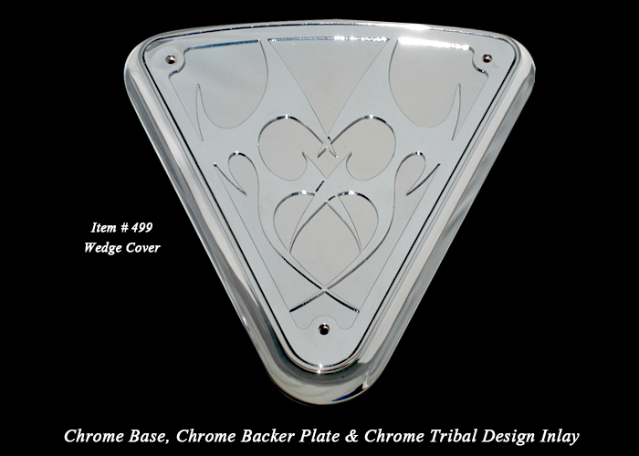 Wedge Cover Tribal chrome side cover victory custom accessories