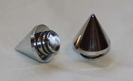 Axle Caps Front Spiked BLACK or Chrome