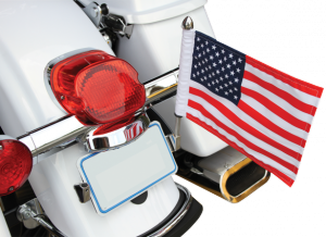 LICENSE PLATE FLAG MOUNT WITH FLAG