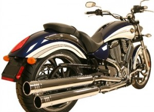 Victory Motorcycle slip on pipes