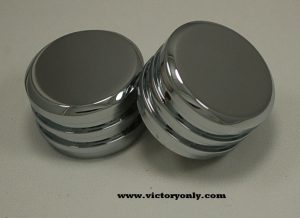 victory motorcycle finned engine cam covers chrome aluminum 100 106 motors