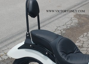 victory only custom motorcycle accessories VEGAS KINGPIN GUNNER HIGHBALL BACKREST SISSYBAR SISSY BAR RACK CHROME BLACK CUSTOM TALL