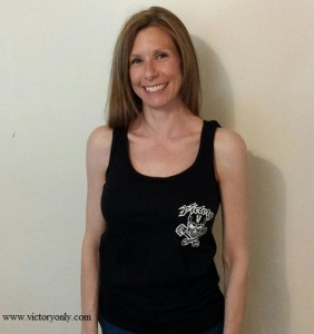 pink womens logo tank top victory only custom motorcycle accessories cross country vegas 106