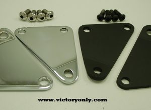 CNC Machined from billet Aluminum then Cerakoted for a Strong Long Lasting Black Finish. Accept all standard male mount pegs for Victory Motorcycles
