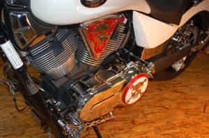 chrome primary engine cover