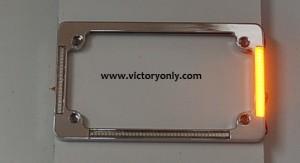 victory License Plate frame Chrome Turn Signals & Brake Light
