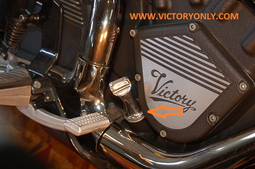 polished victory motorcycle replacement oil dipstick victory motorcycle