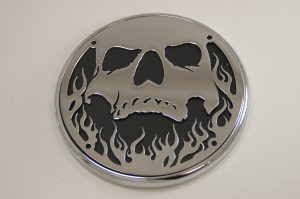 Engine Cover Victory Skull and Flame