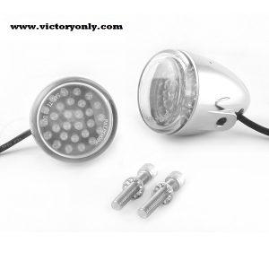 White LED Bullet Driving Lights - Black, Chrome - Bolt Mount