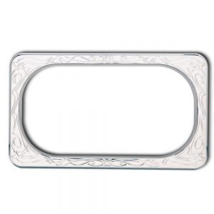 Engraved Ness License Plate Frames - Chrome