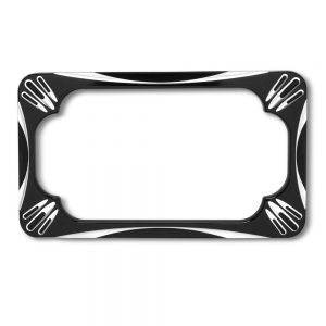 Ness License Plate Frames designed to match up with all of the Arlen Ness Deep Cut accessories.