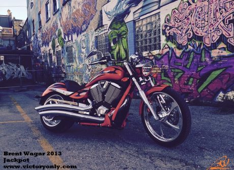 2013 Brent Wagar victory jackpot motorcycle