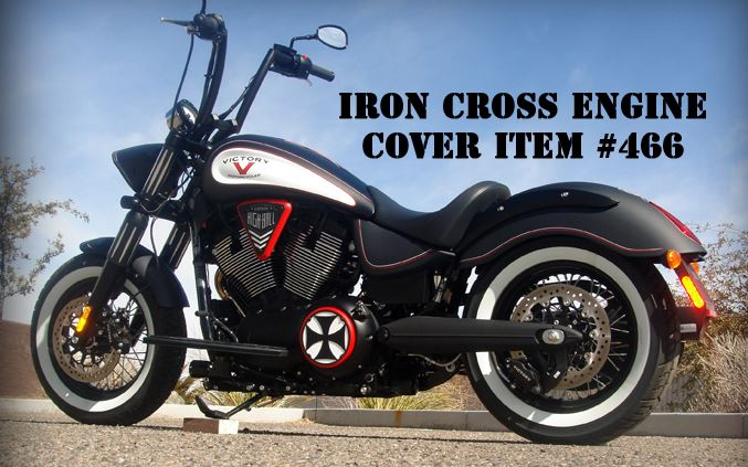 Victory Side Cover Iron Cross Victory Motorcycle Parts iron cross engine cover victory motorcycycle red chrome black