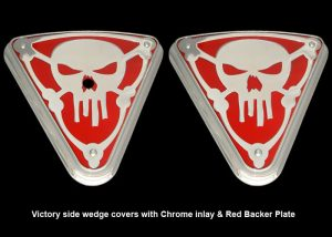 Wedge Cover victory motorcycle chrome skull bones victory vegas hammer jackpot highball kingpin jackpot 8 ball