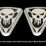 Wedge Cover Skull no Bones Black Chrome Victory motorcycle parts accessories customizing