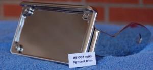 LED Illuminated Plate Frame w/ mounting hardware, Chrome