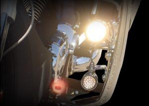 Bullet Lights, LED, Large Flat Bezel with Holes