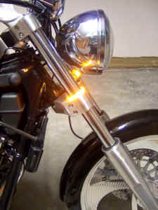 Victory Vegas CLEAR LED Integrated Light Bar w Brake Rear Turn Signals