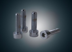 Front Axle Pinch Bolt Kit Chrome