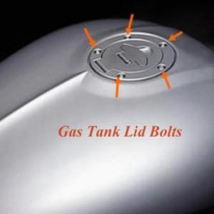 Gas Tank Lid Bolts - Chrome