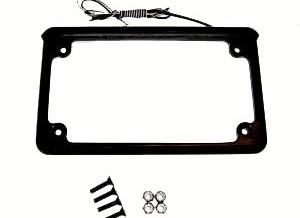 LED Illuminated Plate Frame w/ mounting hardware,  Black