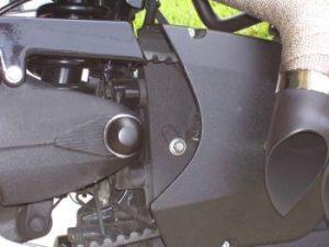 REAR SWING ARM Axle CAP RIGHT SIDE, Black
