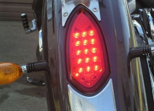 Tail light Red Installed on a Victory Kinpgin Motorcycle