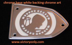 20140355 POW MIA RESERVOIR COVER CHROME BASE WHITE BACKGROUND CHROME ARTWORK