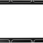 20300772 CONTRAST CUT LICENSE PLATE FRAME BLACK BEVELED