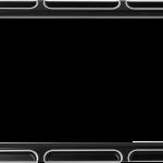 20300772 CONTRAST CUT LICENSE PLATE FRAME BLACK BEVELED