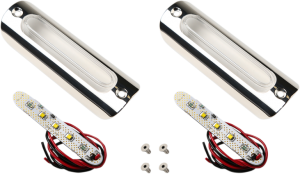 •Dual-function LED lights with stainless steel housing