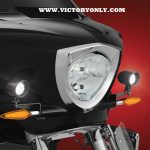 Black Driving Lights Installed Victory Cross Country