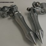 CHROME STREET BILLET ALUMINUM PEGS WITH HIGHWAY BAR MOUNT