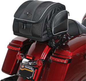 """Capacity Metric40 Liter ClosureZipper Color/FinishBlack Depth Imperial13-1/2"""" Expandable ImperialExpands To 13"""" H Height Imperial10"""" Mounting StyleStraps Product NameTank Bag Riding StyleAdventure Touring / Dual-Sport,Street UnitsEach Width Imperial14"""""""