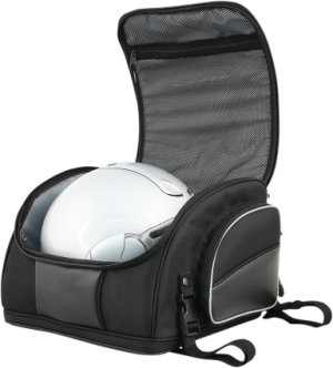 """Capacity Metric 40 Liter Closure Zipper Color/Finish Black Depth Imperial 13-1/2"""" Expandable Imperial Expands To 13"""" H Height Imperial 10"""" Mounting Style Straps Product Name Tank Bag Riding Style Adventure Touring / Dual-Sport,Street Units Each Width Imperial 14"""""""