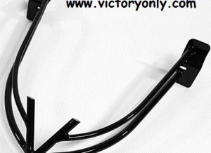 "Rear Bumper Victory ""V"" Chrome, Black"