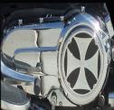 Engine Cover Black Iron Cross