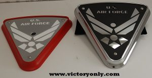 Black Base with Us Air Force Black Art Chrome Backing Plate