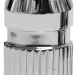 CHROME VICTORY VALVE STEM CAP SPIKE AUGER