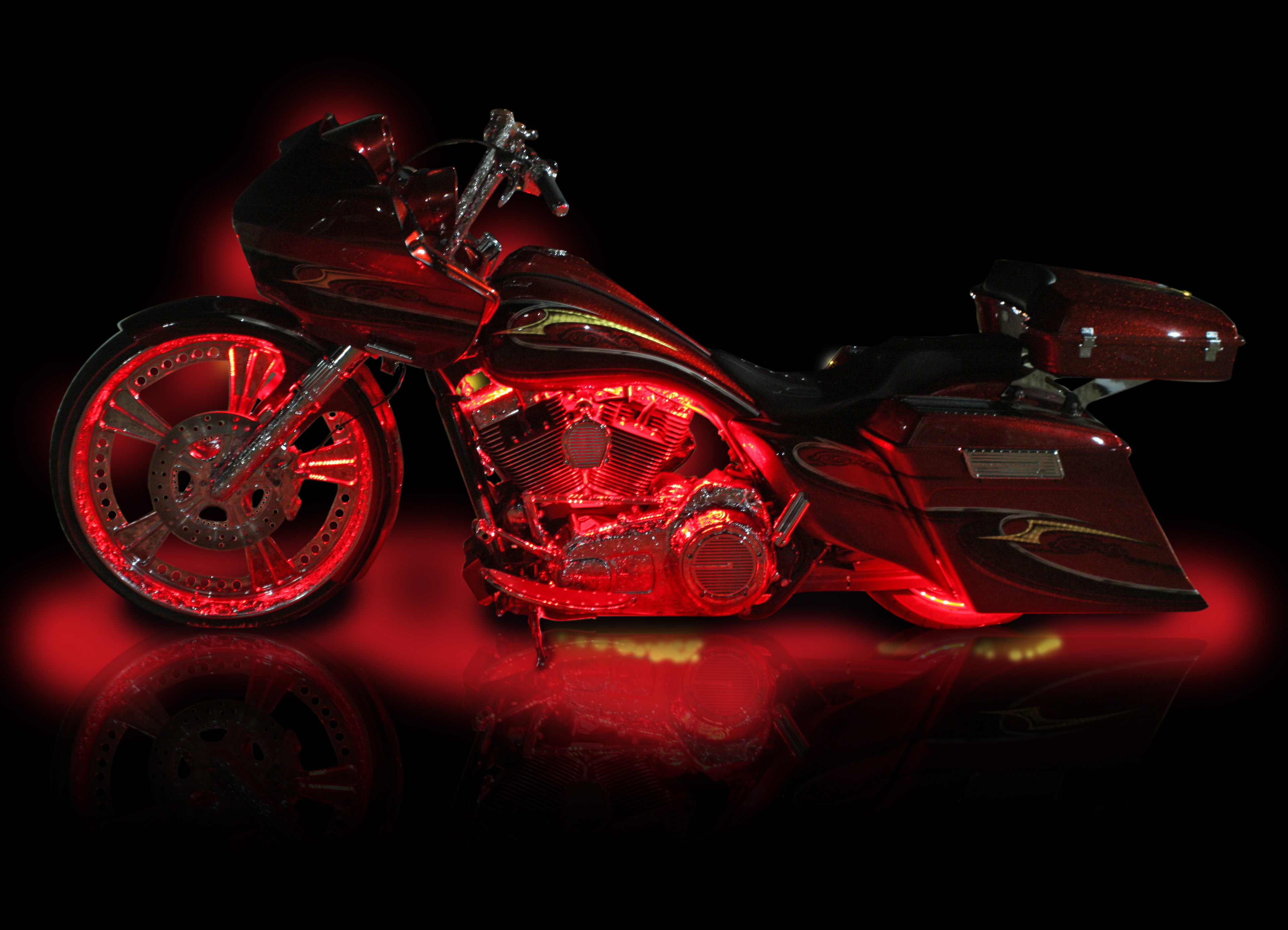 Victory Gallery Only Custom Motorcycle Accessories Pictures Moto Lights Wiring Diagram Black Tribal Wheel Contrast Cut Small Cross Country Led Light Kit Vegas Jackpot Hardbags Installed Hammer Flame Rack
