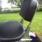 Victory Motorcycle sissy bar and pad