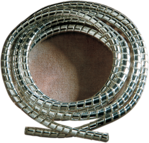 •A flexible chrome coiled plastic covering for control cables and electrical wires •Available in 5' lengths in two diameters
