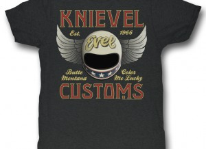 Evel Knievel Retro Mens Tee Shirt