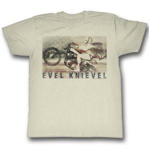 Evel Knievel Retro Mens Tee Shirt
