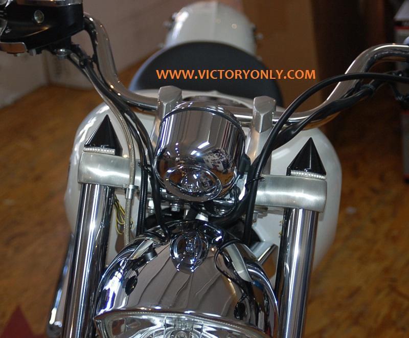 LED FORK CAP LIGHT VICTORY MOTORCYCLE CUSTOM NEW TURN SIGNAL LIHGTS VICTORY MOTORCYCLE CUSTOM PARTS