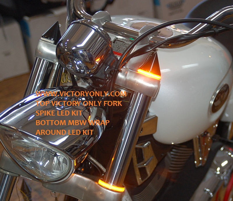 LED FORK CAP LIGHT VICTORY MOTORCYCLE CUSTOM NEW 030