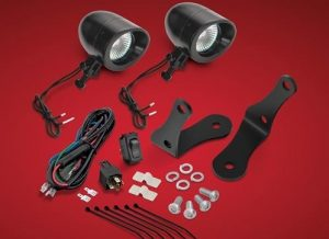 "FORGED BAR BLACK LED KIT, 2 3/8"" Mini LED Spot, For Victory Cross Bike Forged, Bars"