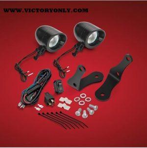 "FORGED BAR BLACK LED KIT, 2 3/8"" Mini LED Spot, For Victory Cross Bike Forged, Bars"