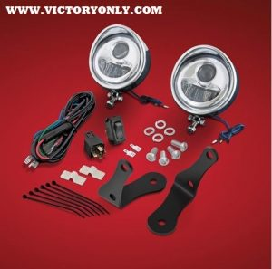 """3 1/2"""" LED FOG LIGHT KIT, For Forged Bars, For Victory Cross Country, Tour, & Magnum"""